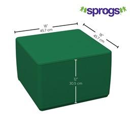 """Foam Soft Cube Seat - (12"""" H) - Dimensions"""