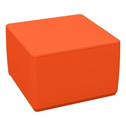 Foam Soft Cube Seat - Orange