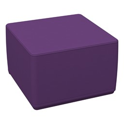 Foam Soft Cube Seat - Purple
