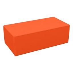 "Foam Soft Seating - Orange Rectangle (12"" H)"