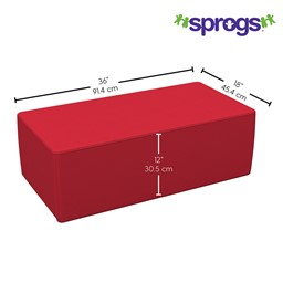 """Foam Soft Seating - Rectangle (12"""" H) - Dimensions"""