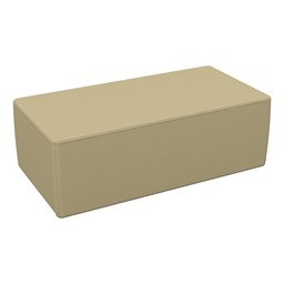 """Foam Soft Seating - Sand Rectangle (12"""" H)"""
