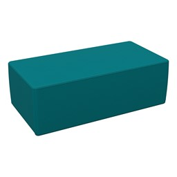 """Foam Soft Seating - Teal Rectangle (12"""" H)"""