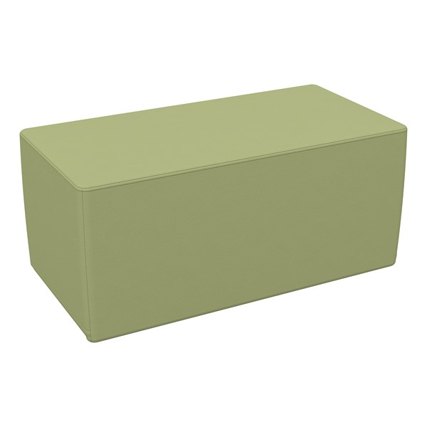 "Foam Soft Seating - Fern Green Rectangle (16"" H)"