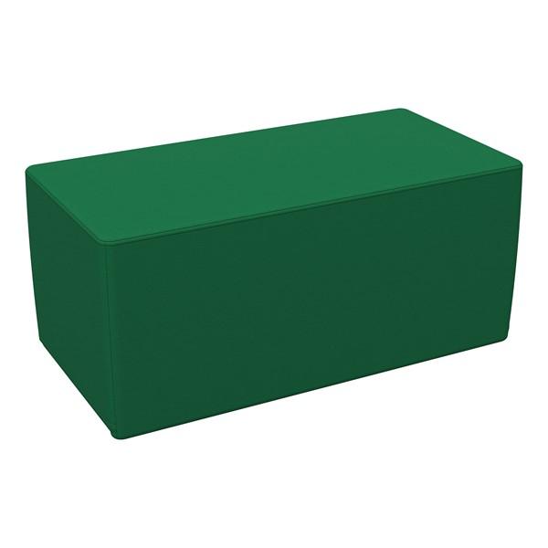 "Foam Soft Seating - Green Rectangle (16"" H)"