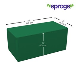"""Foam Soft Seating - Rectangle (16"""" H) - Dimensions"""