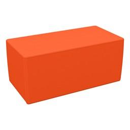 "Foam Soft Seating - Orange Rectangle (16"" H)"