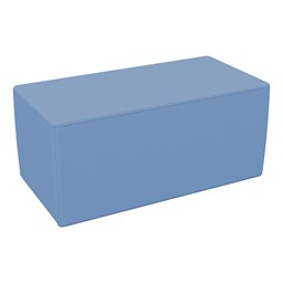"Foam Soft Seating - Powder Blue Rectangle (16"" H)"