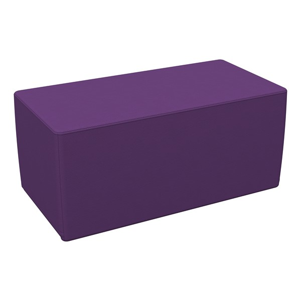 "Foam Soft Seating - Purple Rectangle (16"" H)"