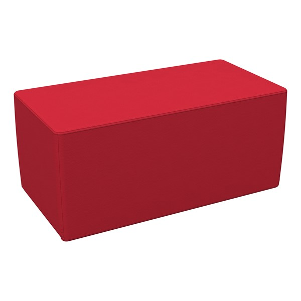 """Foam Soft Seating - Red Rectangle (16"""" H)"""