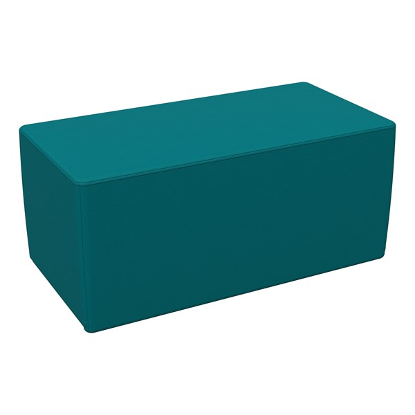 """Foam Soft Seating - Teal Rectangle (16"""" H)"""