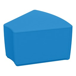 """Foam Soft Seating - French Blue Wedge (12"""" H)"""