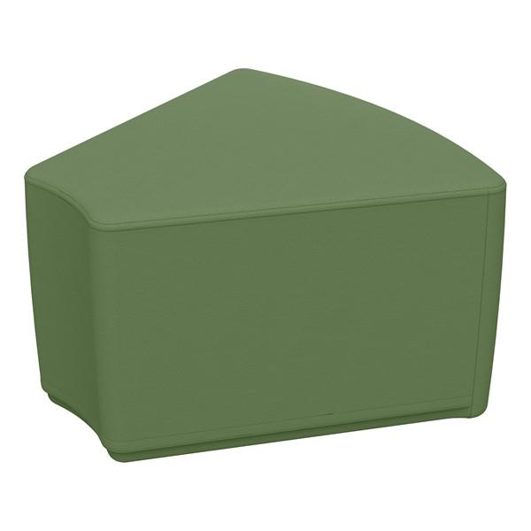 """Foam Soft Seating - Hunter Green Wedge (12"""" H)"""