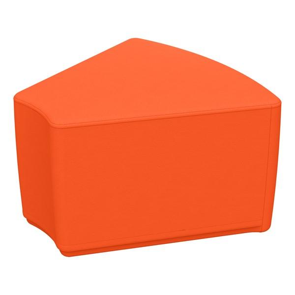 """Foam Soft Seating - Orange Wedge (12"""" H)"""