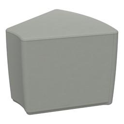 "Foam Soft Seating - Gray Wedge (16"" H)"
