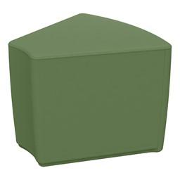 """Foam Soft Seating - Hunter Green Wedge (16"""" H)"""