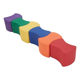 """Foam Soft Seating - Bow Tie Set (Six Pieces - 10"""" H) - Primary"""