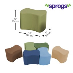 Foam Soft Seating - Bow Tie Set - Dimensions