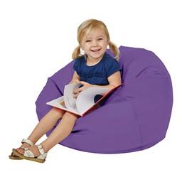"Round Bean Bag - Purple (26"" D)"