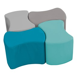 "Foam Soft Seating - Bow Tie Set (Four Pieces - 10"" H) - Contemporary"