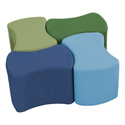 Foam Soft Seating - Bow Tie Set - Earthtone