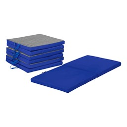 "Premium Two-Fold Nap Mat - 2"" Thick - Pack of Four - Blue"