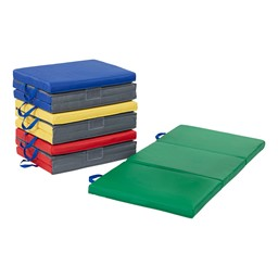 "Premium Three-Fold Nap Mat - 2"" Thick - Pack of Four - Assorted"