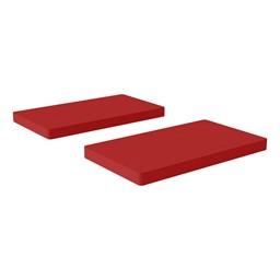 Premium Rectangular Floor Mats - Red