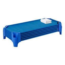 Cot Sheet - Standard - Pack of 48 - Shown w/ stacked cots (not included)
