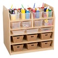 Baltic Birch Classroom Trolley Art Cart
