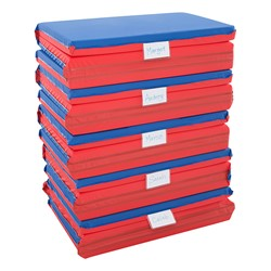 "Three-Fold Rest Mat – 2"" Thick (48"" L x 24"" W) - Folded & Stacked"