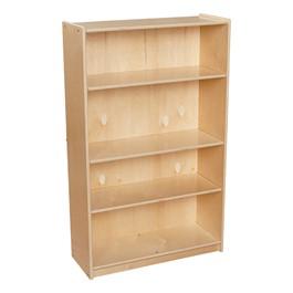 """Wooden Bookcase w/ Four Shelves (36\"""" W x 12\"""" D x 46 3/4\"""" H)"""