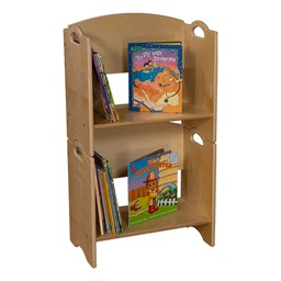 Stackable Bookshelf - Two units shown stacked - Accessories not included