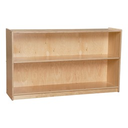 Mobile Adjustable Bookcase w/ Two Shelves