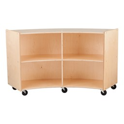 "Concave Mobile Storage Shelving 36"" H - Unassembled"