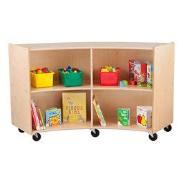 """Concave Mobile Storage Shelving 36\"""" H - Assembled"""