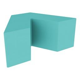 "Foam Soft Seating - V Shape (16"" H) - Turquoise"