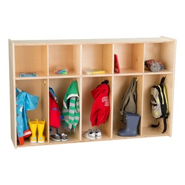 Preschool Five-Section Locker