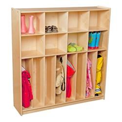 Wooden Eight-Section Locker Unit