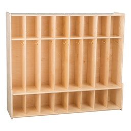 Eight-Section Classroom Seat Locker - Unassembled