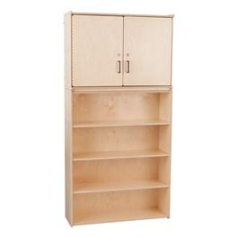 Wooden Cabinet w/ Shelving