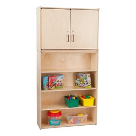 Wooden Cabinet w/ Four Shelves - Assembled
