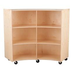 "Concave Mobile Storage Shelving 48"" H - Unassembled"