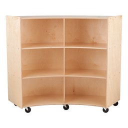 "Concave Mobile Storage Shelving 48"" H - Unassembled"