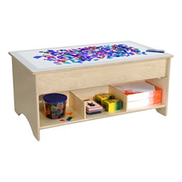 """Kids Light Table w/ Storage (48"""" W) (Accessories Not Included)"""