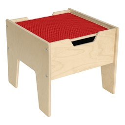 Wooden Two-In-One Toddler Game Table w/ Red Baseplate