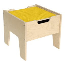 Wooden Two-In-One Toddler Game Table w/ Yellow Baseplate