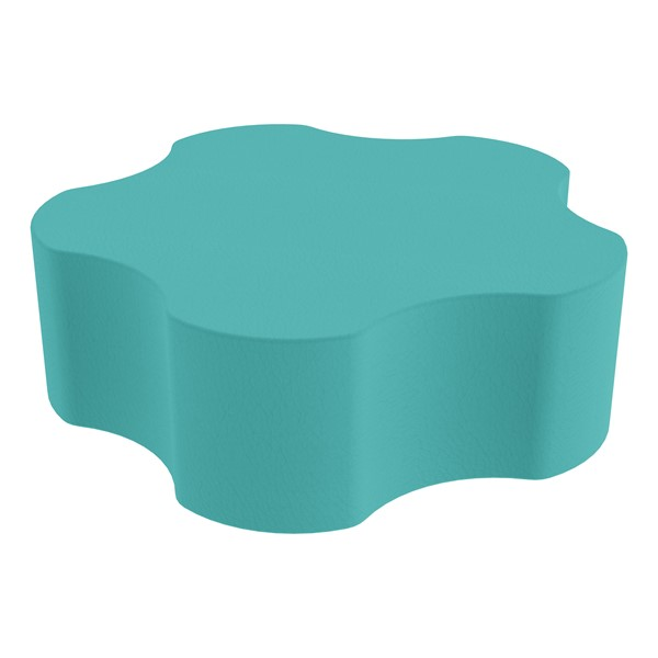 """Foam Soft Seating - Five Point Gear (12"""" H) - Turquoise"""