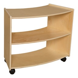 "Preschool Reading Nook w/ Curved Mobile Shelving (24"" H) - Curved Mobile Shelving"