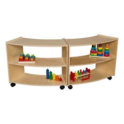 "Curved Mobile Shelving (24"" H) - Assembled - paired"